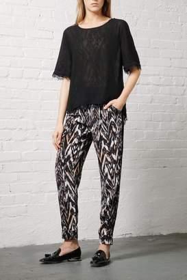 Greylin Silk Ankle Trouser