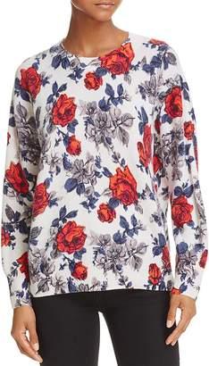 Equipment Melanie Floral Cashmere Sweater