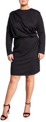 Alexia Admor Draped Sheath Dress with Flared Sleeves, Plus Size