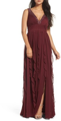 Women's Adrianna Papell Beaded Gown $249 thestylecure.com