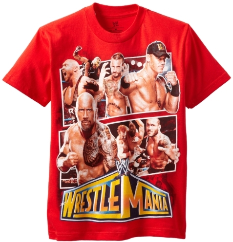 WWE Boys 8-20 Wrestlemania Tee