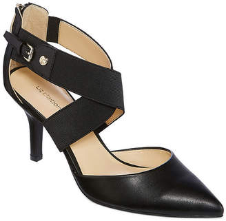 Liz Claiborne Keegan Womens Pumps Elastic Pointed Toe Stiletto Heel