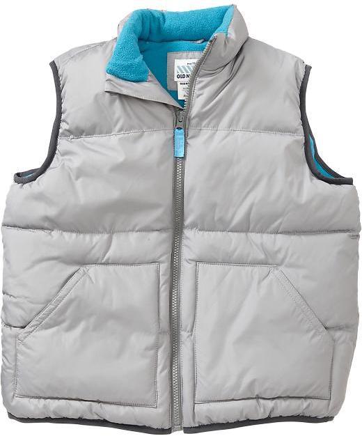 Old Navy Boys Frost Free Zip-Front Vests