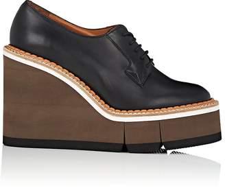Clergerie Women's Badiane Leather Platform-Wedge Oxfords
