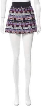Milly Patterned Mini Skirt