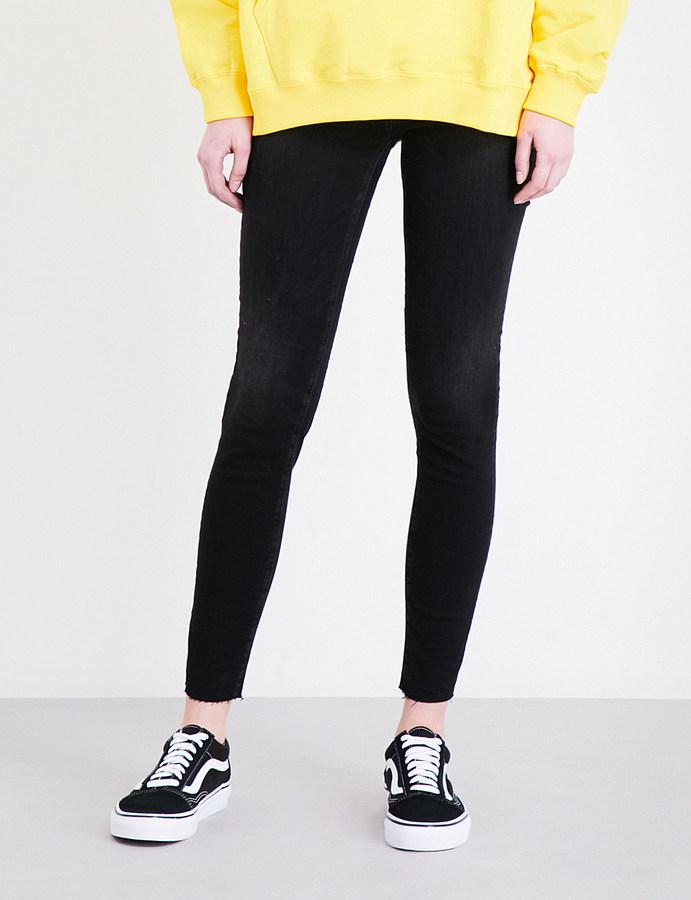 AG JeansAg The Legging Ankle frayed-hem super-skinny high-rise jeans