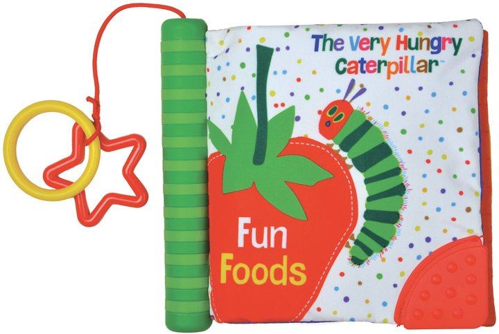 "Kids Preferred The World Of Eric Carle Caterpillar ""Fun Foods"" Soft Teether Book"