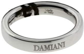 Damiani 18K White Gold Band Ring Size 5.75