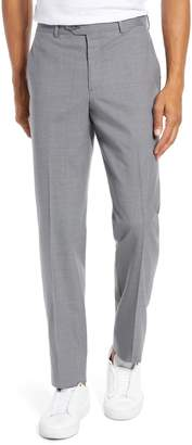 Nordstrom Trim Fit Flat Front Stretch Wool Pants