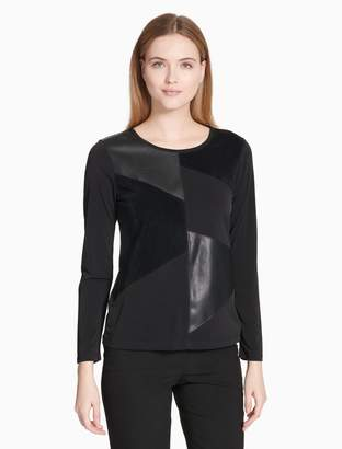 Calvin Klein geometric panel long sleeve top