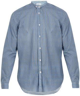 Boglioli Stand-collar spotted-print cotton-poplin shirt