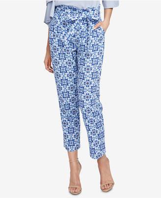 Rachel Roy Tile-Print Paper Bag Pants, Created for Macy's