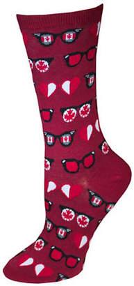 Hot Sox Canadian Glasses Crew Socks