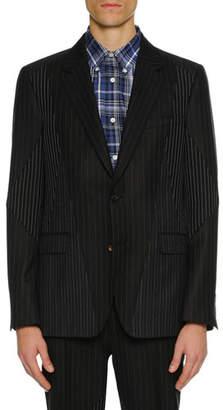 Alexander McQueen Men's Pinstriped Pieced Suit Jacket