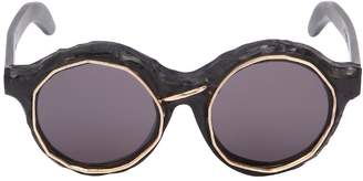 Kuboraum Berlin Bronze Burnt Round Sunglasses