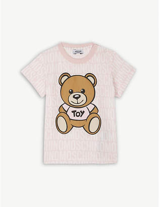 Moschino Bear print cotton T-shirt 6-36 months