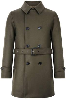 MACKINTOSH Dark Olive Wool Short Trench Coat GM-005F