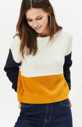 La Hearts Long Sleeve Colorblocked Pullover Sweater