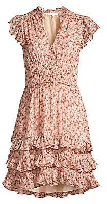 Rebecca Taylor Women's Lucia Floral Ruffled Mini Dress - Size 0