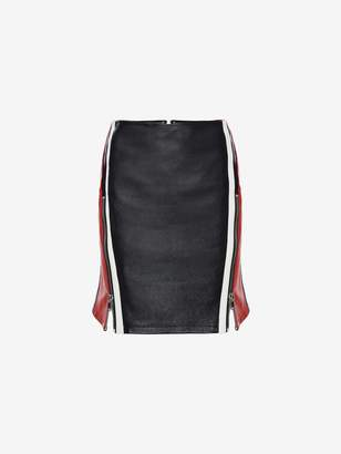 Alexander McQueen Leather Mini Skirt