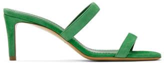 Mansur Gavriel Green Suede Fino Sandals
