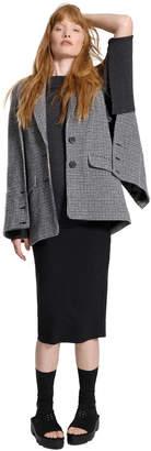 Max Studio houndstooth check wool jacket