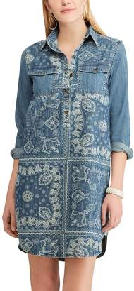 Chaps Women's Plaid Shirt Dress