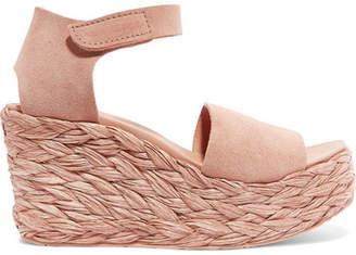 Pedro Garcia Dory Suede Espadrille Wedge Sandals - Pink
