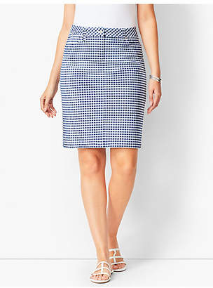 Talbots Gingham A-Line Cotton Skirt