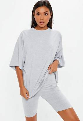 Missguided Gray Drop Shoulder Oversized T Shirt