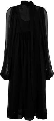 Rochas loose flared dress
