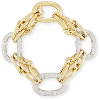 Pomellato Tango Link Bracelet with Diamonds in 18K Yellow Gold