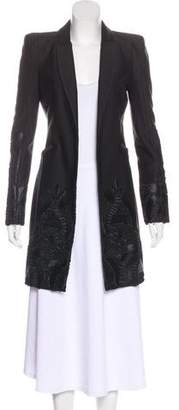Alexis Embroidered Longline Blazer
