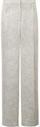 The Row Hester Tweed Wide-leg Pants - Stone