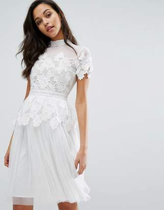 Miss Selfridge Lace And Tulle Layer Dress $194 thestylecure.com