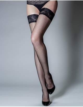 f752bdec491 Next Womens Pour Moi Tempt - Lace Top 15 Denier Fishnet Hold Up