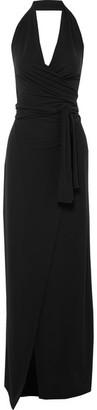 Norma Kamali Halterneck Jersey Wrap Maxi Dress