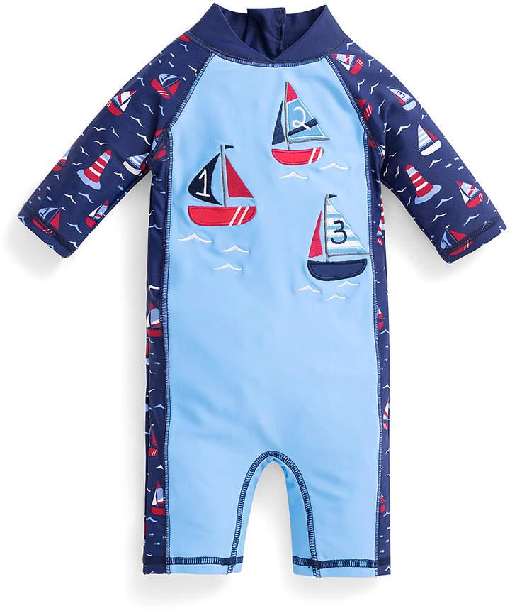 Blue Sailboat Rashguard - Infant & Toddler