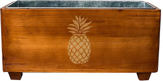 Cathy's Concepts Cathys Concepts Pineapple Wooden Wine Trough