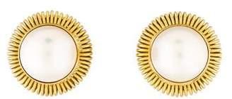 Michael B. 18K Mabé Pearl Earrings