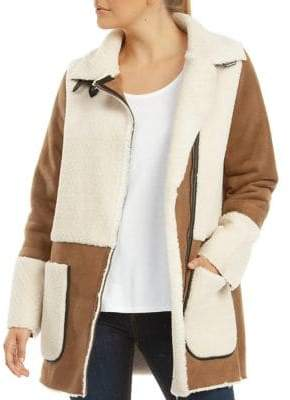 Dex Faux Shearling-Lined Coat