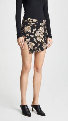 Michelle Mason Wrap Miniskirt