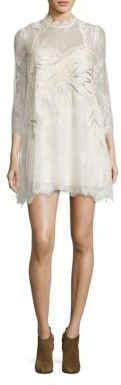 Free People Swan Lace Mini Dress $300 thestylecure.com