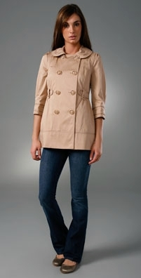 Juicy Couture Piped Skirted Trench
