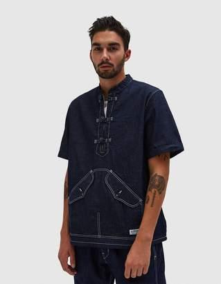 Neighborhood KF-D Short Sleeve Shirt in Indigo