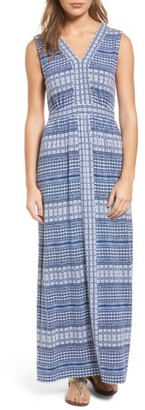 Women's Tommy Bahama Greek Grid Maxi Dress $178 thestylecure.com