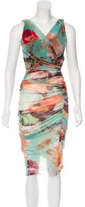 Jean Paul Gaultier Soleil Ruched Midi Dress