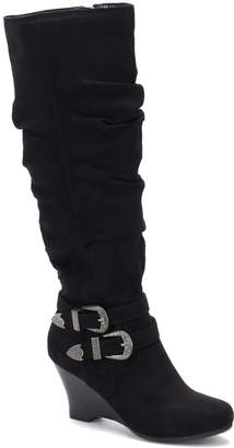 So SO Limousine Women's Tall Wedge Boots