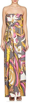 Marc Jacobs Women's Abstract-Print Jersey Strapless Gown