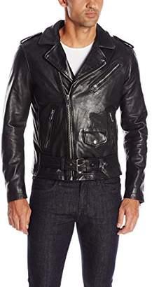 Joe's Jeans Men's Lukas Leather Moto Jacket